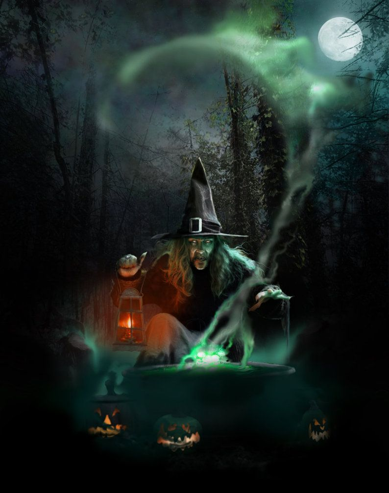 All Hallows Eve By Spoofdecator On Deviantart Halloween Witch Halloween Pictures Vintage Halloween