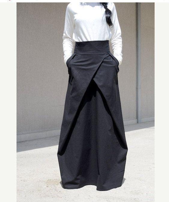 Photo of Prom Avant Garde Skirt, Evening High Fashion Skirt, Straight Romantic Skirt, Bridesmaid Skirt, Handmade Skirt Women Black Skirt Goth Skirt