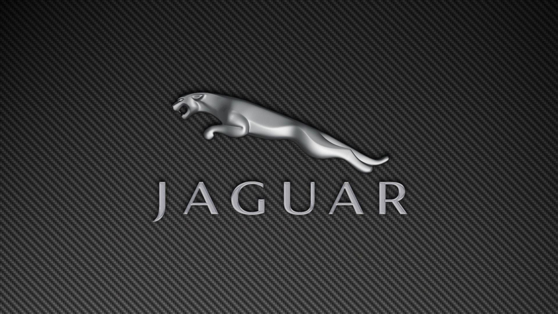 Jaguar Car Brand Logo with Pattern Background Wallpaper