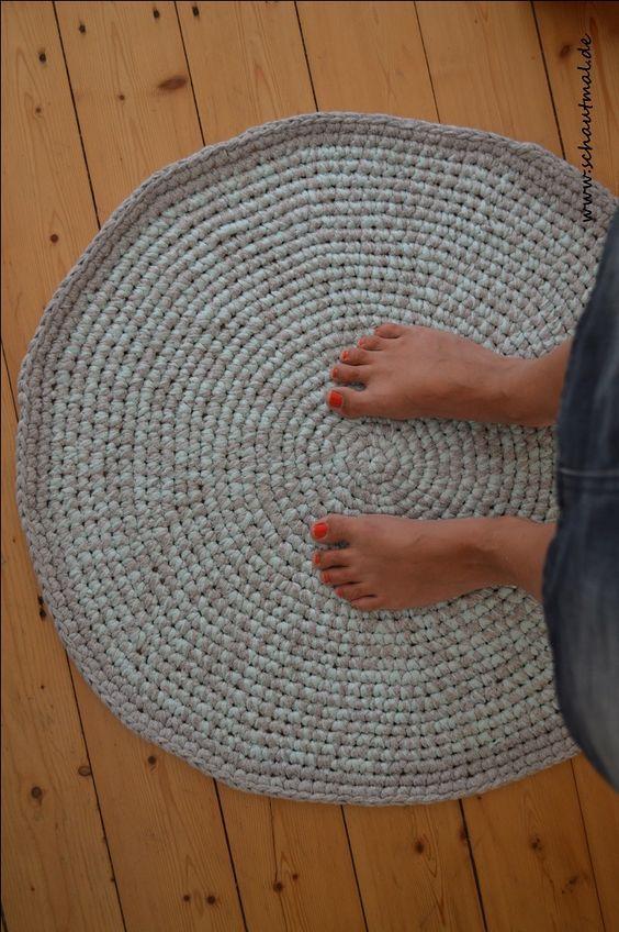 Badezimmerteppich Nadel 10 1rd Fadenring Mit 6fm Anschlingen
