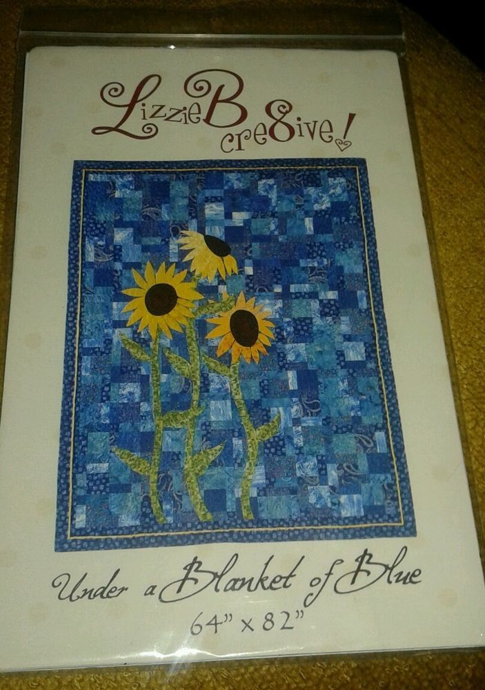"Be Creative 64"" x 82"" quilt pattern by Lizzie B Cre8ive Sunflowers  #LiaaieBCreative"