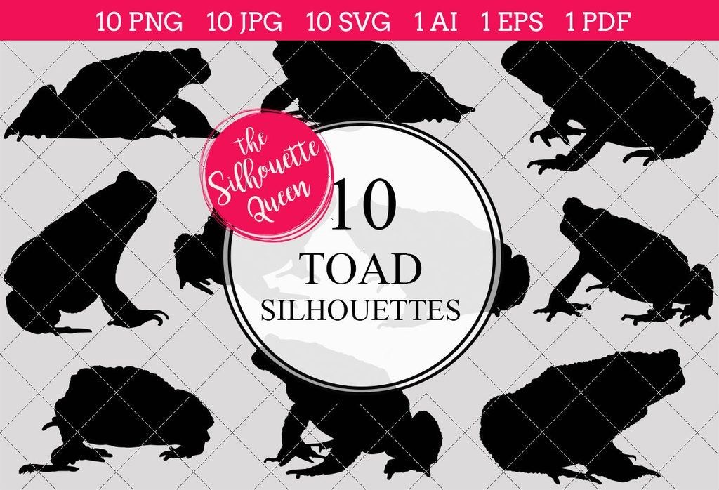 toad silhouettes clipart clip art ai eps svgs jpgs pngs pdf rh pinterest com Traveling Toad Clip Art Snake Clip Art