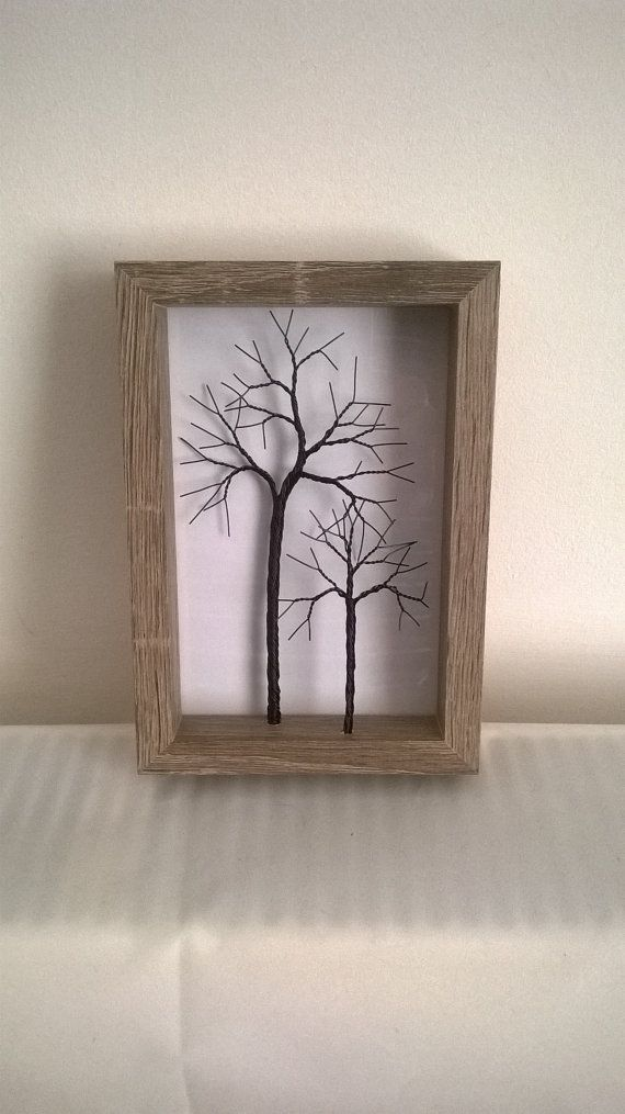 Small twisted wire tree in a rustic frame | Pinterest | Árboles ...