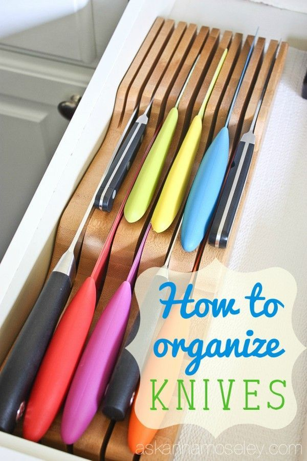 free up counter space by using the totally bamboo indrawer knife - Knife Storage