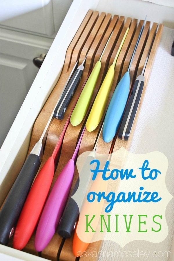 How To Organize Kitchen Knives Kitchen Knife Storage Kitchen