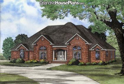 House Plan #026897 - Beethoven Boulevard - Distinctive House Plans