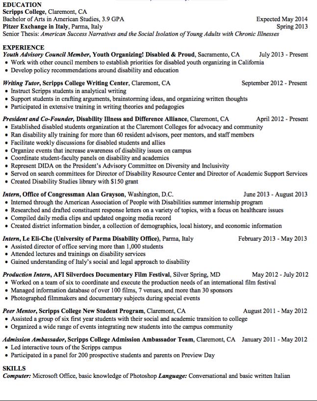 student tutor resume