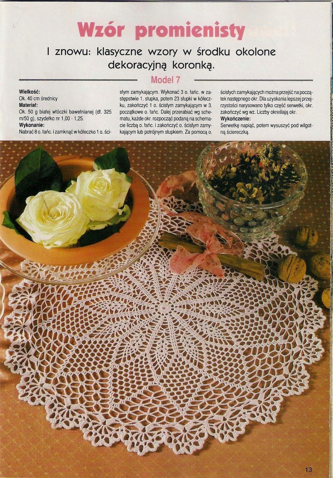 ESQUEMAS CROCHET PARA HOY | PATRONES CROCHET | Doilies & Table ...