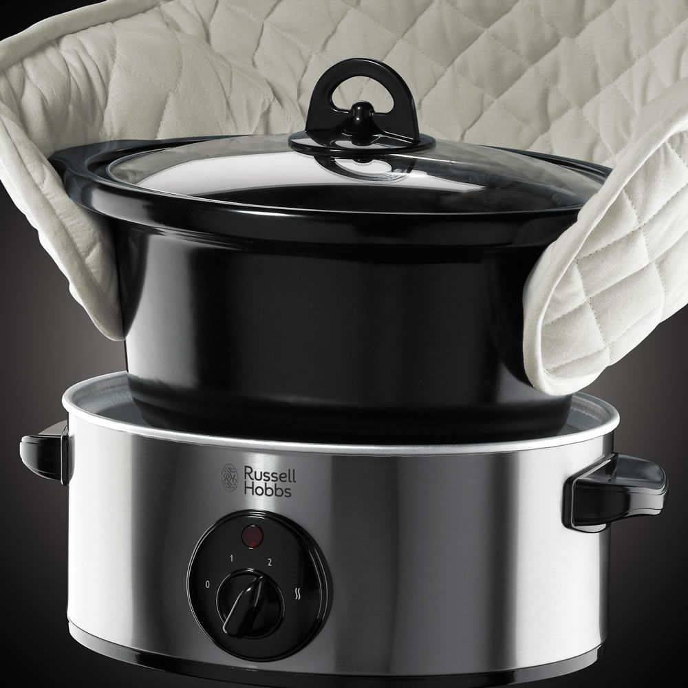Russell Hobbs Stainless Steel Slow Cooker 3.5L | Pinterest