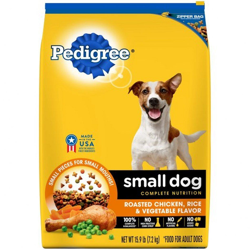 Pedigree Small Breed Adult Dry Dog Food Chicken 15 9 Lbs 3 Bags