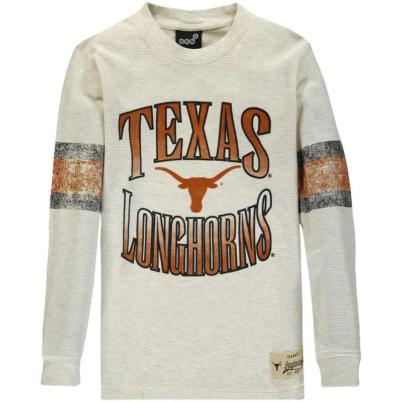 Thermal Shirt Longhorns Cream Glory Youth Texas Days Long Sleeve znYTqnUxw