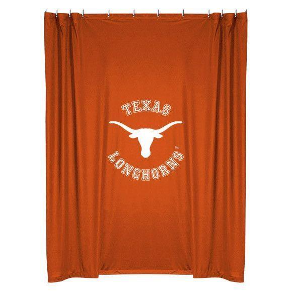 Texas Longhorns Shower Curtain Texas Shower Curtain Orange