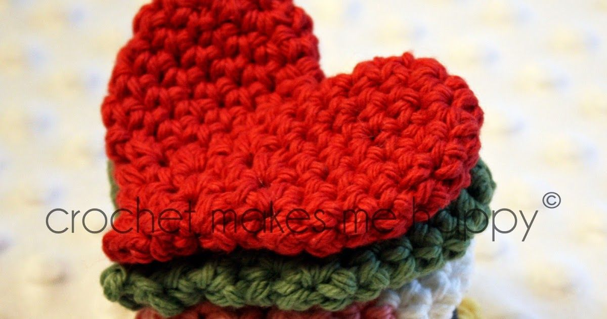 Crochet Pattern The Heart Materials 100 4 Ply Cotton Yarn Size H