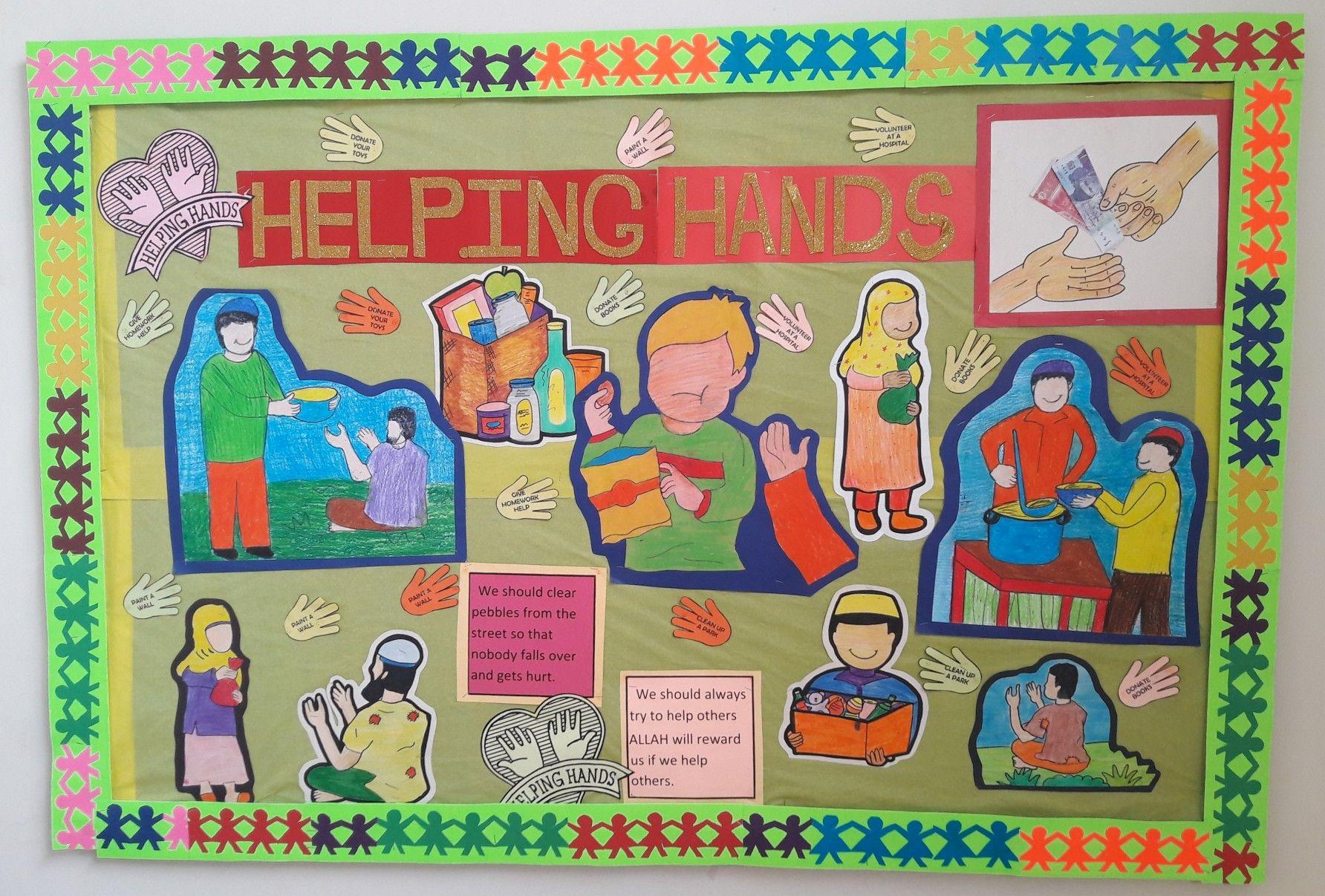 Helping Hands Bulliten Board By Saleem