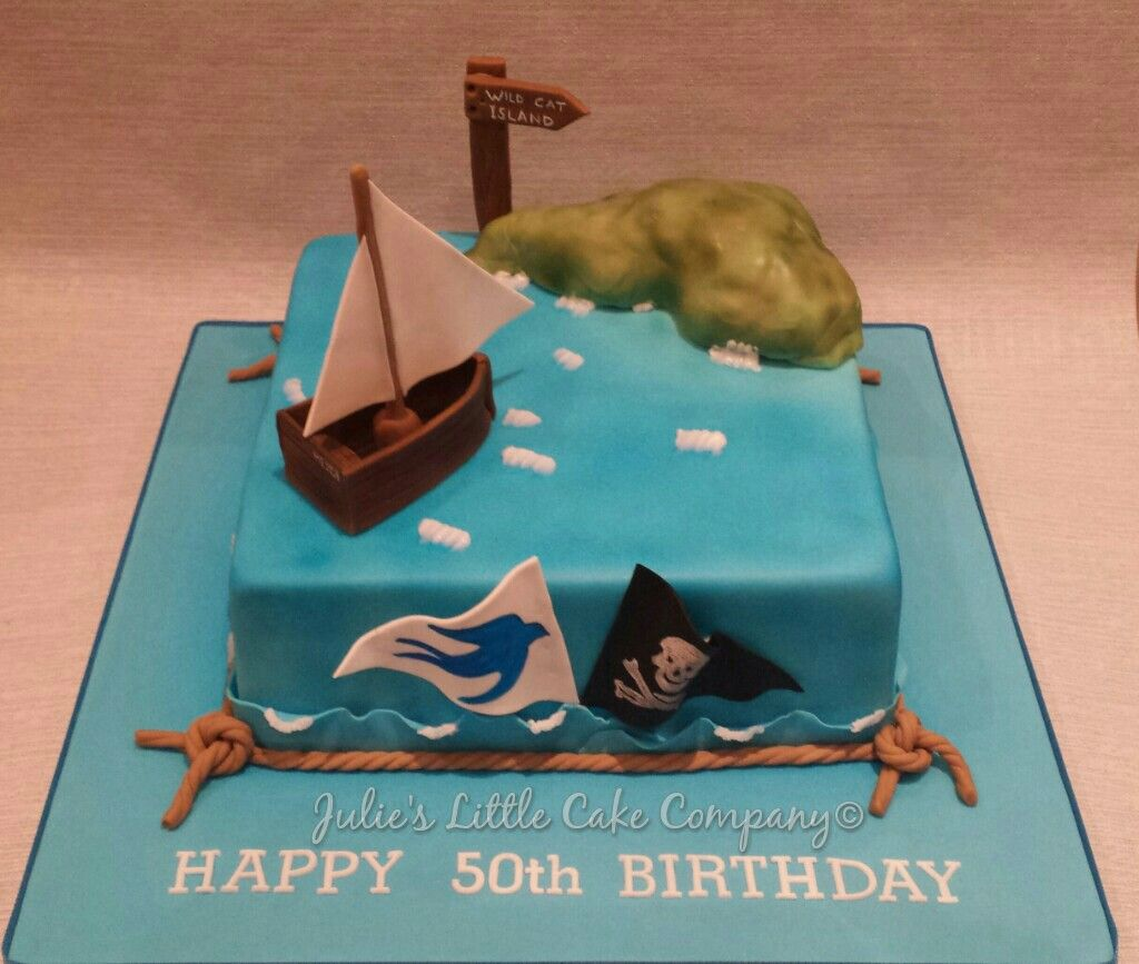 Swallows And Amazons Themed 50th Birthday Cake.