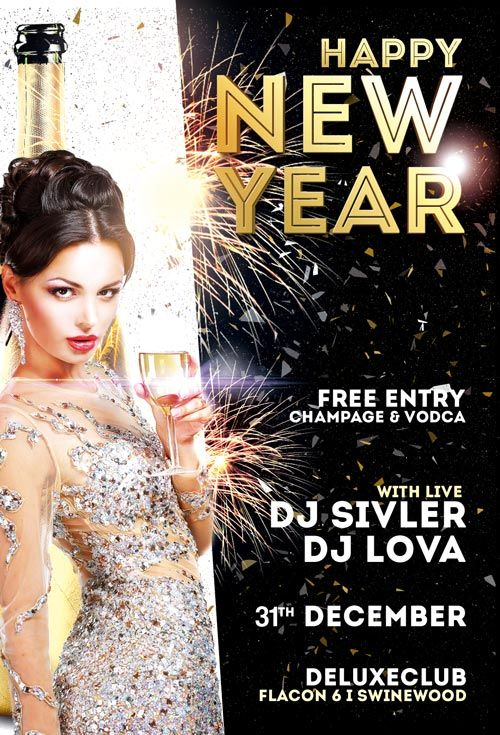 enjoy this free flyer template from our friends at awesomeflyer the happy new year flyer template was designed to promote your next party and club event