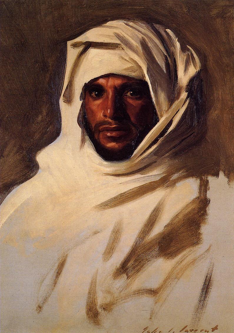 A Bedouin Arab by John Singer Sargent, ( 1856-1925 ) Source: jssgallery.org