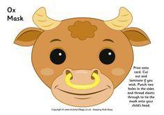 Ox Mask Printable
