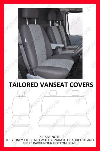 Van Seat Covers For Vauxhall Vivaro 2014 On Seat Covers Grey2 619