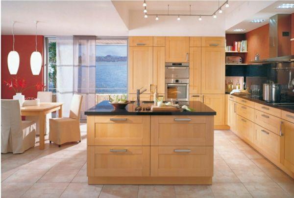 kochinsel maße küche einrichten kücheneinrichtung ideen Küche - kche mit kochinsel landhaus