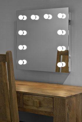 Luxe make-up visagie spiegel met LED lampen voor professioneel ...