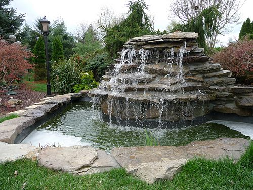 farm landscape design ideas garden designs freshwater pond and unique landscaping - Waterfall Landscape Design Ideas