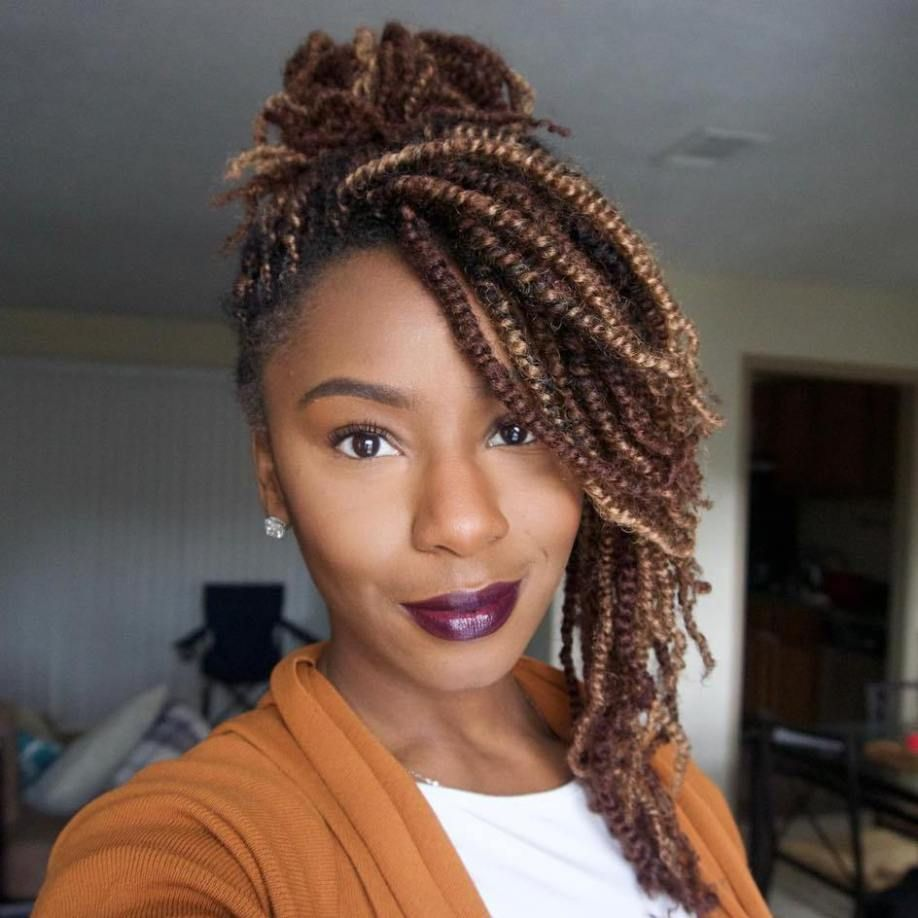 30 Hot Kinky Twists Hairstyles to Try in 2018 | Light browns, Brown ...