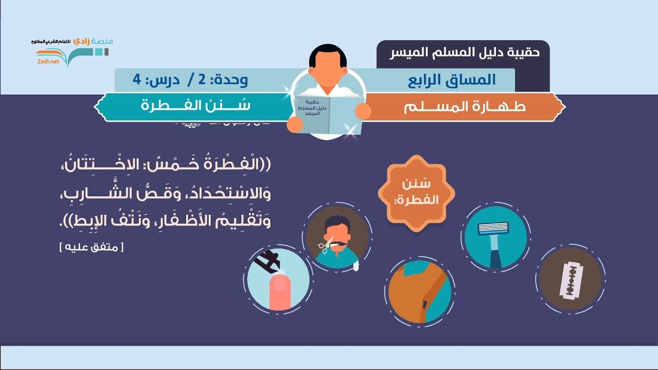 سنن الفطرة د فهد باهمام U2l4 طهارة المسلم منصة زادي Ios Messenger