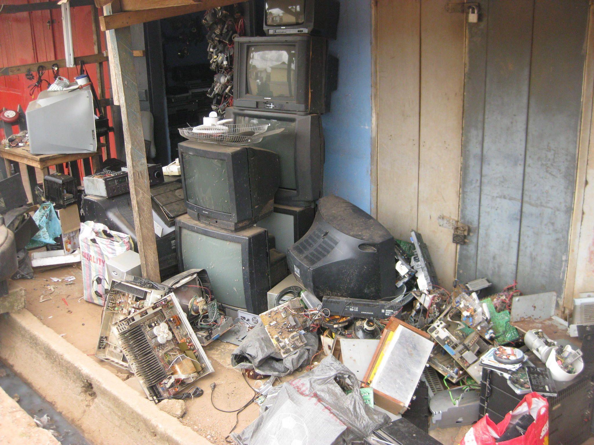 TV repair shop....spare parts, Hohoe Ghana Charity