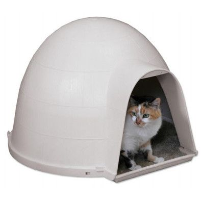 Heated Cat Pod 2 Doors Outdoor Cat House Shelter Bed Condo Ebay
