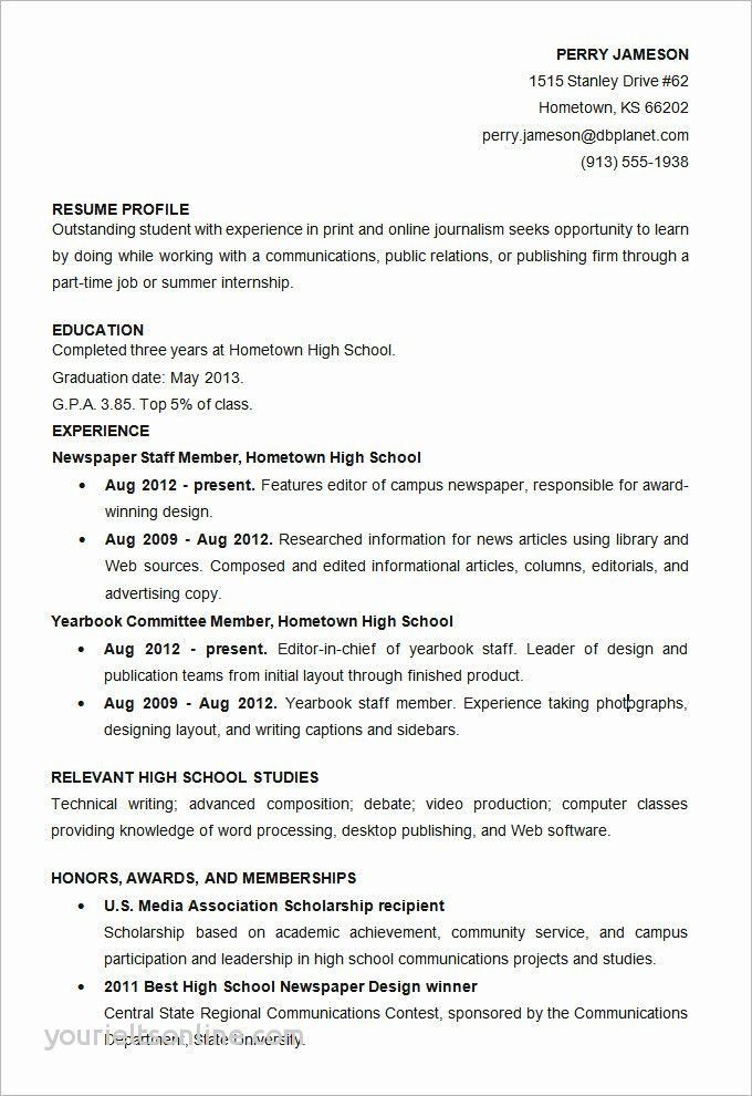 Word Document Resume Template Lovely Resume Word Template