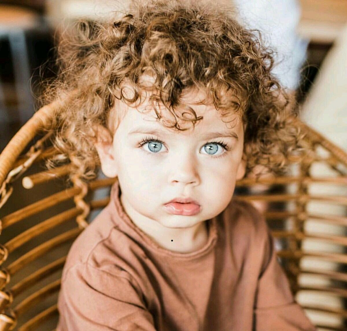 Curly Hair Baby Cute Kids Photography Curly Hair Baby Blue Eyed Baby