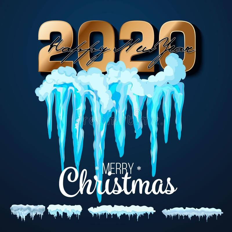 2020 Vector Collection Of Snow Caps Pile Icicles Isolated On Background Tran Affiliate Caps Pile Icicles Snow Vector Ad Snow Caps Snow Icicle