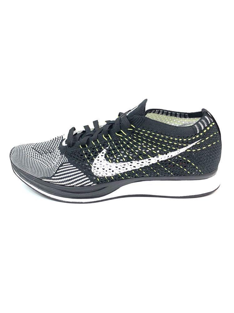 ae17eed3c11d3 Nike Flyknit Racer Oreo Volt Men s Size 7-Women s Size 8.5 Unisex 526628-011  New