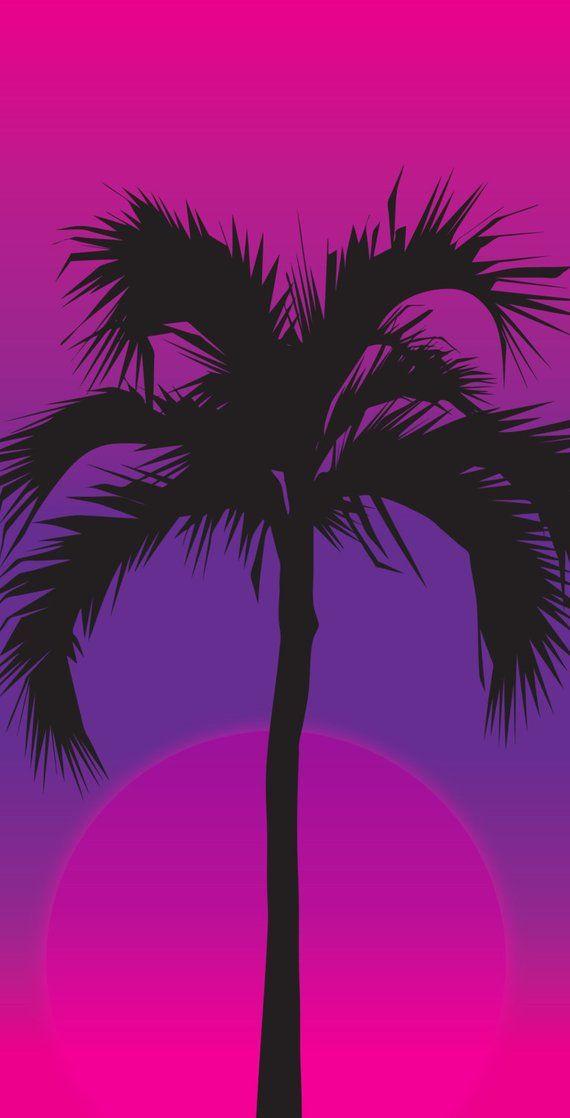 Palm night (1x4) Size Custom Cornhole Board Game Set - Corn Hole - Bag Toss