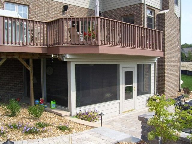 Like The Mini Wall At The Bottom Under Deck Rooftop Design Patio Under Decks Screened Porch