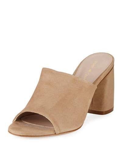 Stuart Weitzman Woman Sequel Suede Mules Size 41 DJkDC