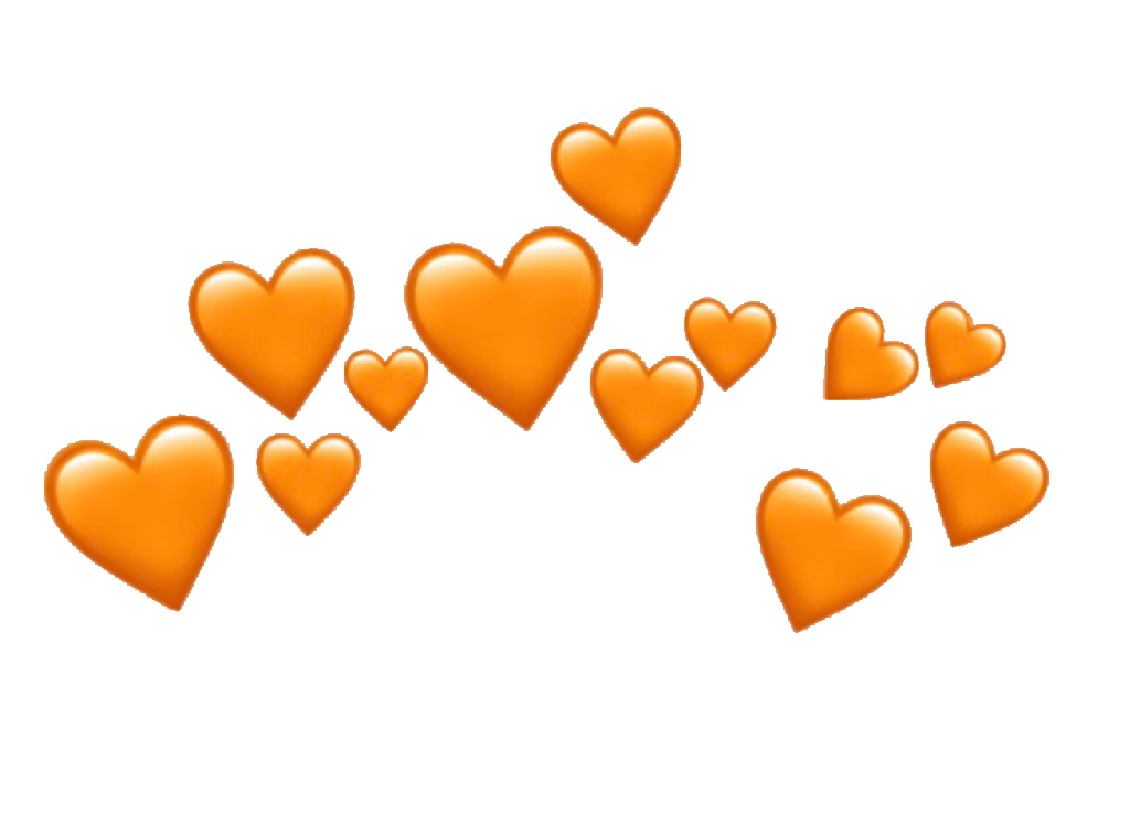 Heartcrown Orangeheart Emojicrown Emoji Heart Freetoedi Heart Emoji Yellow Heart Emoji