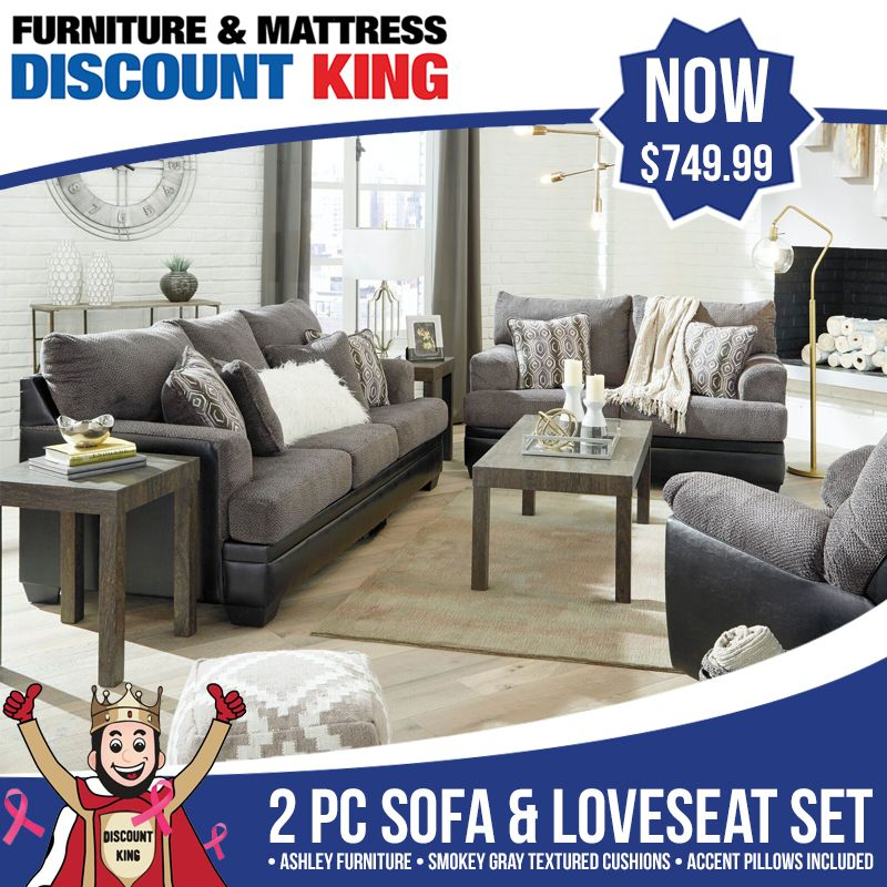 Your living room deserves  hot new look with this pc sofa  loveseat set by ashley we just added on our website seller is and also furniture mattress discount king fmdiscountking pinterest rh