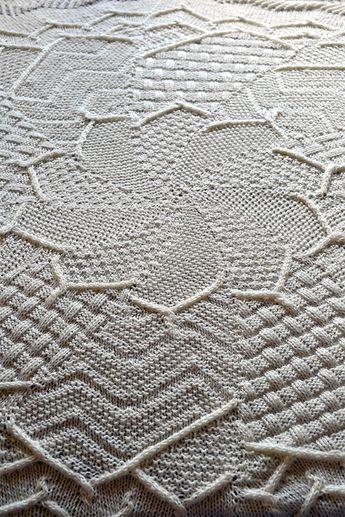 Free Knitting Pattern For Sampler Flower Baby Blanket Circular
