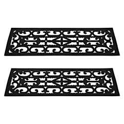 Protect Your Outdoor Stairs With These Black Nonslip Stair Treads Made From High Quality Rubber Tread Mats Help Increase Safety When Walking