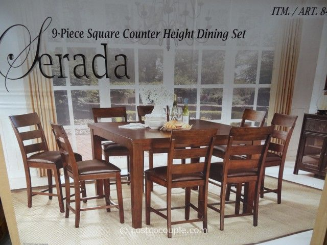 Universal Furniture Serada 9Piece Counter Height Dining Set Entrancing 9 Pc Dining Room Sets Inspiration Design