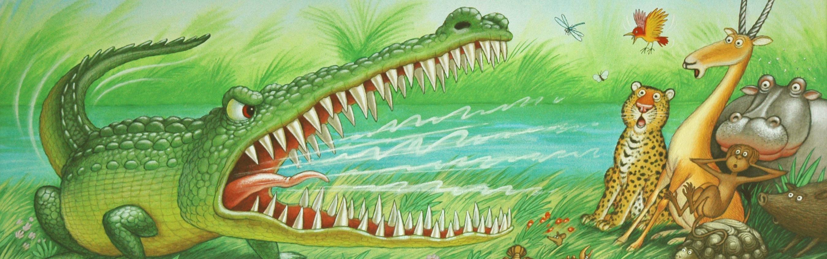 Illustration From The Selfish Crocodile