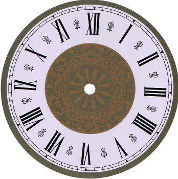 Gallery For  Clock Face Roman Numerals  Time    Clock