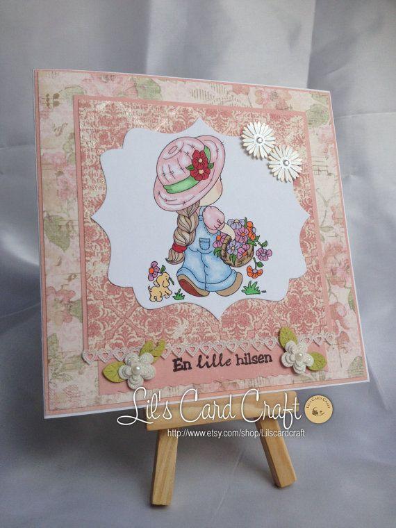 Handmade Card  En lille hilsen by LilsCardCraft on Etsy, $7.00