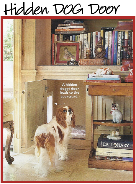 Great Idea To Hide A Doggie Door From Charles Faudree Tchens