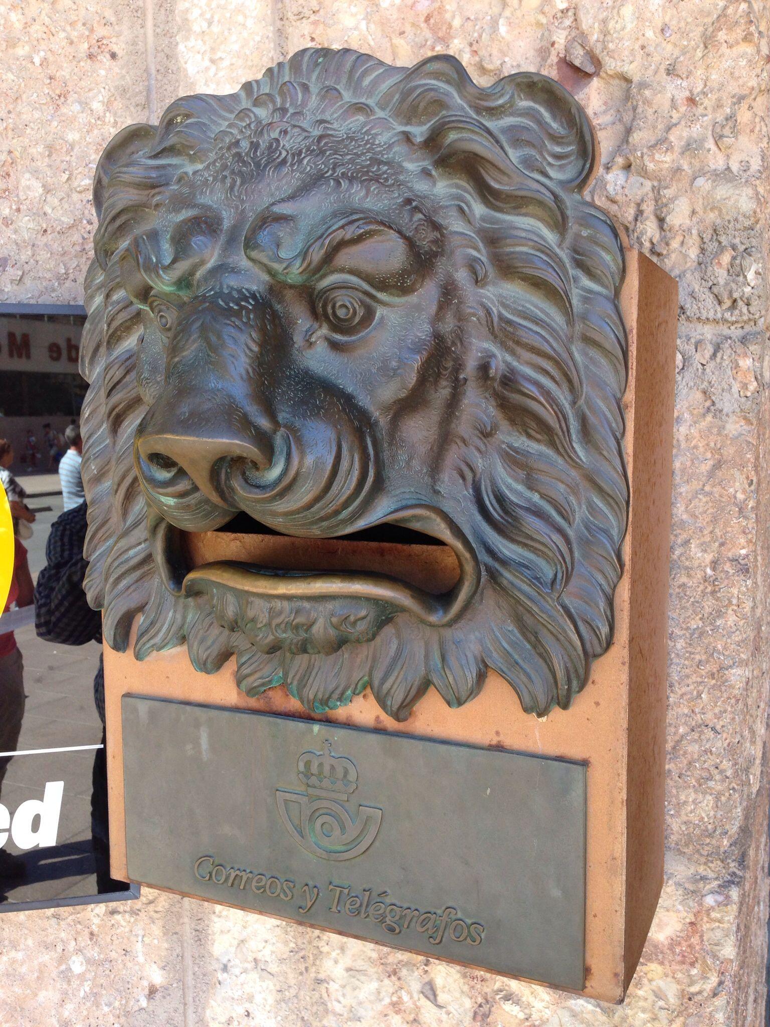A Spanish Lion Head Post Box From Montserrat Door Decor