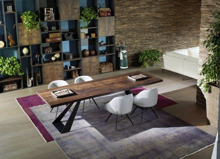 Table de salle à manger en bois massif- 29 designs modernes