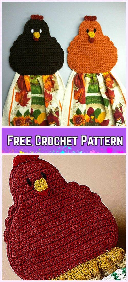 Crochet Chicken Towel Topper Free Pattern | Tejido, Ganchillo y ...