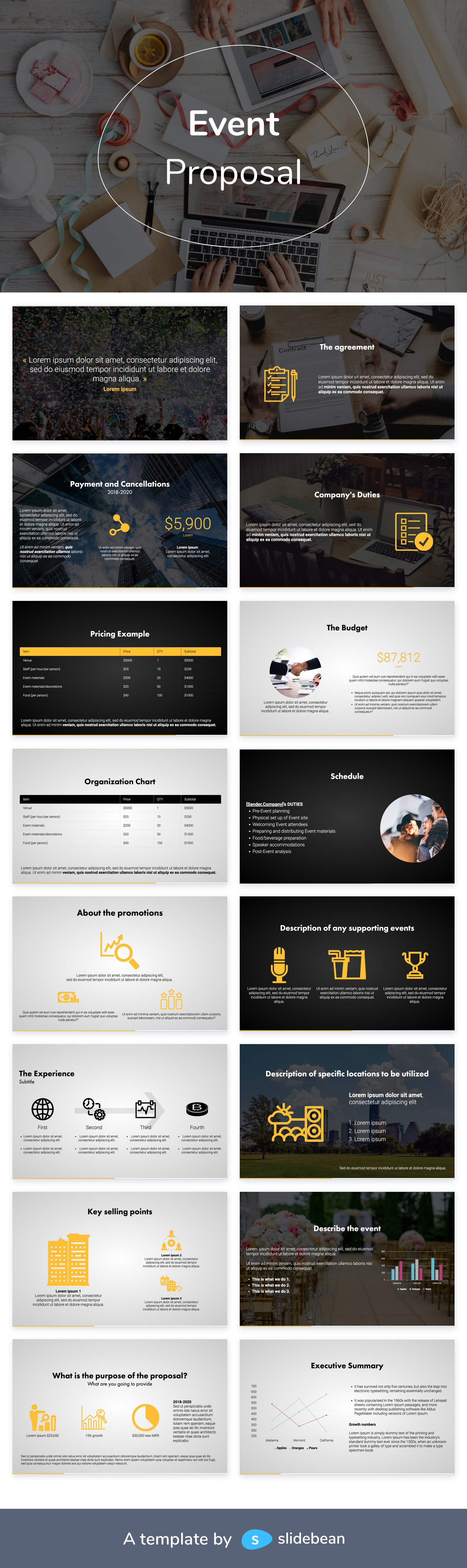 Event Proposal Template Free Pdf Ppt Download Slidebean Event Proposal Template Event Proposal Proposal Templates